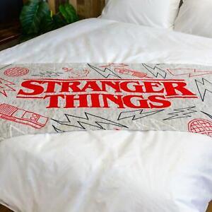 Stranger Things Handtuch Groß Logo Strand Bad Pool 100% Baumwolle - 70cm x 140cm