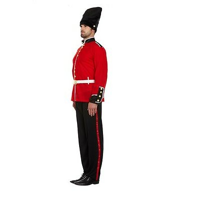 BUSBY QUEENS GUARD GUARDSMAN SOLDIER PARTY COSTUME MENS BUZBY FANCY DRESS M L