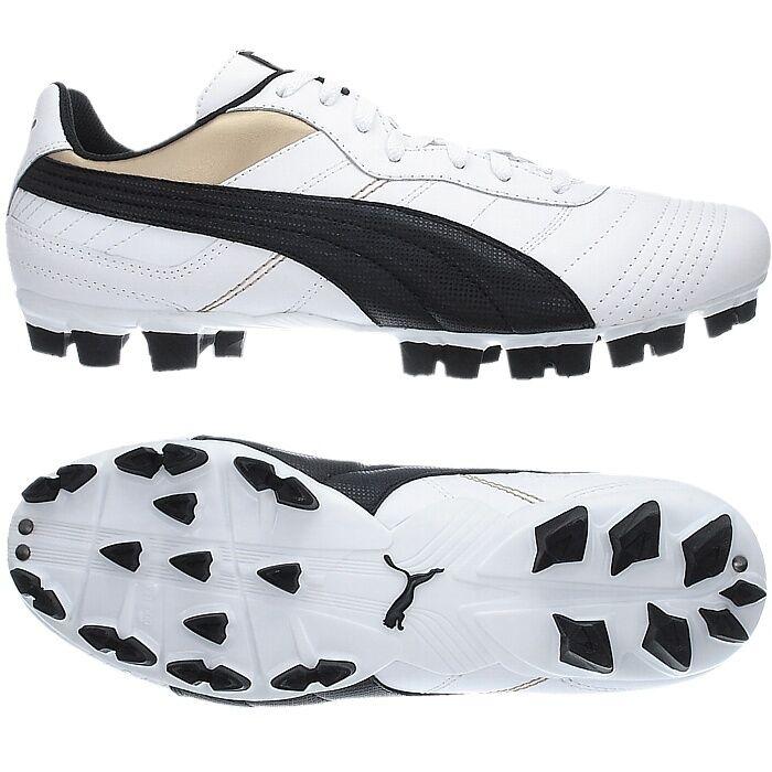 Puma ATTACANTO L FG Fußballschuhe white black gold Gr.42  NEU