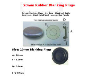 """12mm 1//2/""""  20 PCS RUBBER SNAP-IN BLANKING PLUG BODY HOLE BUNGS STOPPER GROMMETS"""