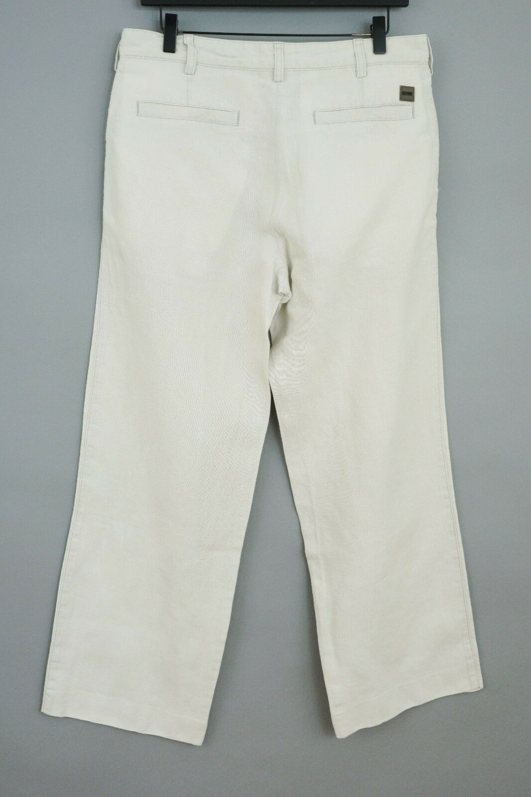Men Hugo Boss Trousers Barrett Linen Straight Fit Casual Size 48 W32 L30 JCA78