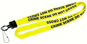 CRIME-SCENE-DO-NOT-CROSS-Lanyard-Neck-Strap-I-D-Holder-Key-Holder-NYPD-CSI