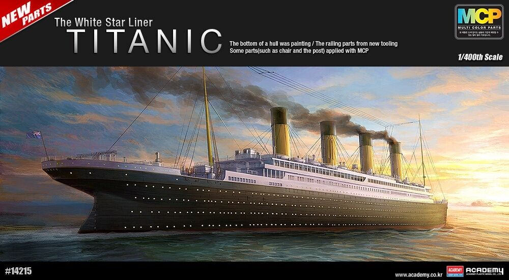 1 400 The White Star Liner TITANIC Multi color Parts ACADEMY