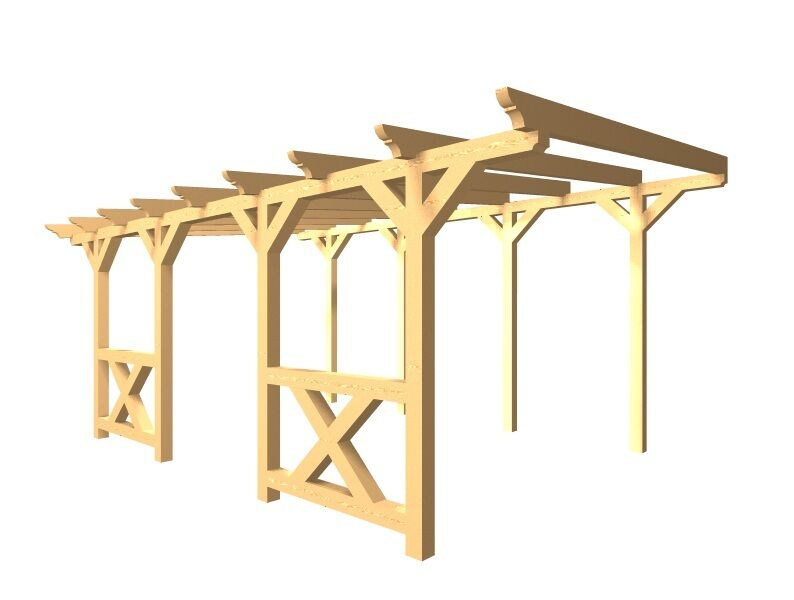 Terrassenüberdachung verzapft Haus Garten KVH Heimwerken Terrasse Holz