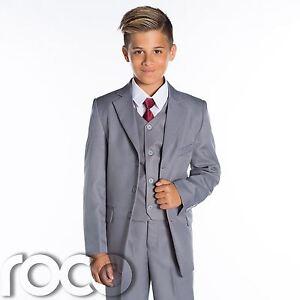 jungen grauer hochzeitsanzug grau seite anzug anz ge formell anz ge ebay. Black Bedroom Furniture Sets. Home Design Ideas