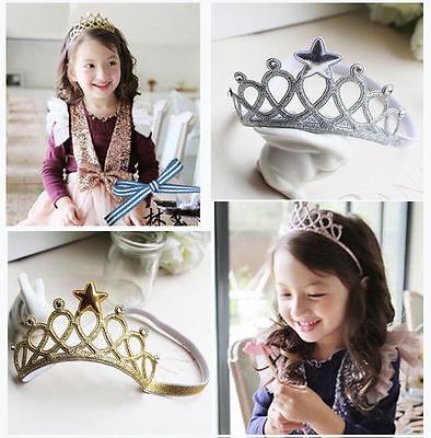 Girls Toddler Baby Kids Headbands Princess Crown Headwear Bow Accessories Hair