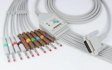 Philips Hp Ecg Cable 10 Leadsaha Banana 40 15pins M1770a M1771a M1772a