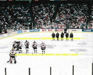 size 40 f79db 20a84 Details about 2000 STANLEY CUP FINALS Opening Anthem 8x10 DALLAS STARS vs  NEW JERSEY DEVILS~@@