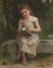 Bouguereau William The Reading Light Print 11 x 14   # 4963