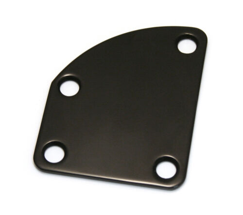 Black Offset//Contoured Heel Electric Guitar Neck Plate Kit NP-DLX-B