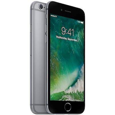 iPhone 6, 16 GB, sort
