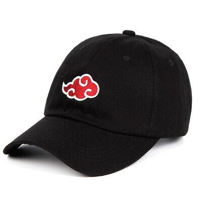 100/% Cotton Japanese Akatsuki Logo Anime Naruto Dad Hat Uchiha Family Logo
