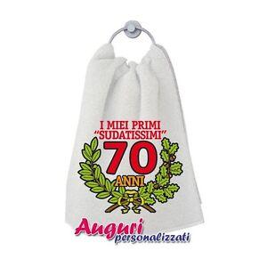 Asciugamano Compleanno 70 Anni Un Regalo Spiritoso E Originale Ebay