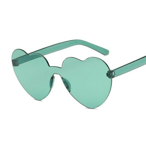 Love Heart Lens Sunglasses Women Transparent Funny Female Clear Candy Color Lady