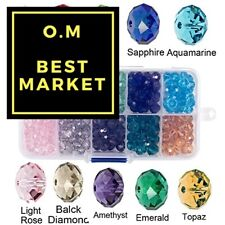 Bingcute 8mm Wholesale Briolette Crystal Glass Beads Finding Spacer Beads #5040