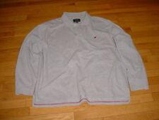 American Eagle Mens Long Sleeve The Eagle Polo Shirt/Sweatshirt Gray Logo XXL