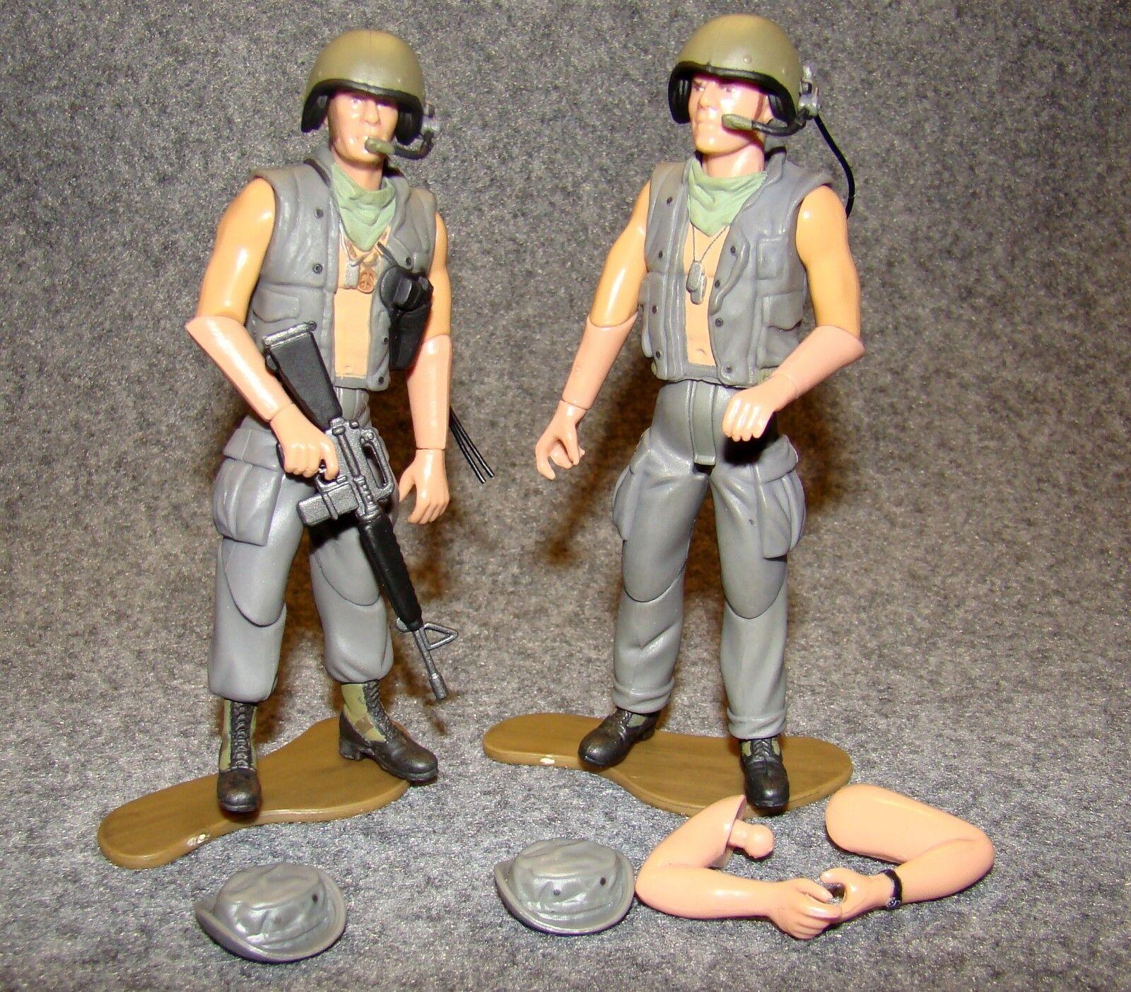 1:18 Ultimate Soldier U.S Vietnam Helicopter Pilot Tank Crew Gunner Figure Set