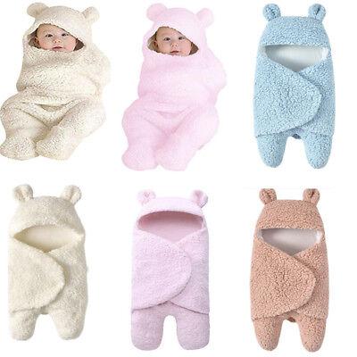 Newborn Baby Cute Cotton Receiving Soft Sleeping Blanket Boy Girl Wrap Swaddle