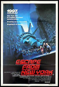 ESCAPE-FROM-NEW-YORK-One-Sheet-Movie-poster-John-Carpenter