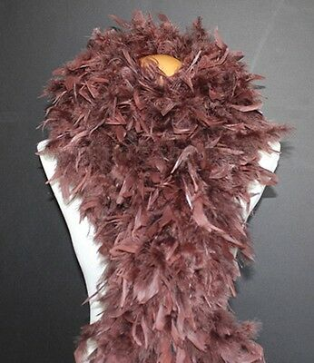 Chocolate Brown 180 Grams Chandelle Feather Boa Dance Party Halloween Costume