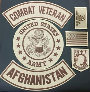 U-S-ARMY-SEAL-COMBAT-VETERAN-AFGHANISTAN-MILITARY-MOTORCYCLE-LOT-OF-6-PATCHES