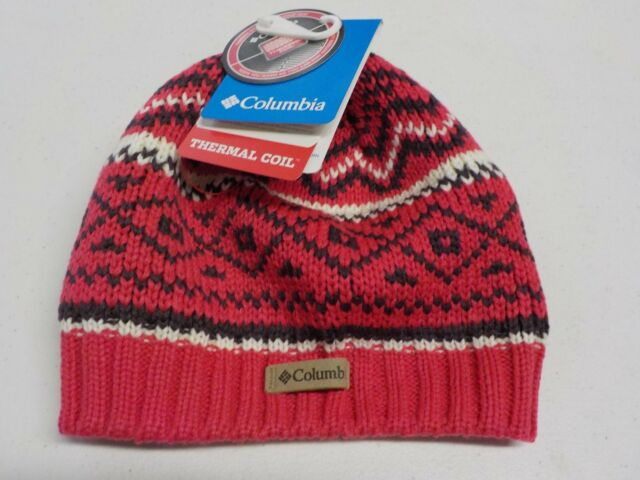 cb257a222b2 WOMEN S ONE SIZE COLUMBIA BRAND PINK NORDIC KNIT THERMAL BEANIE NEW NWT   4473