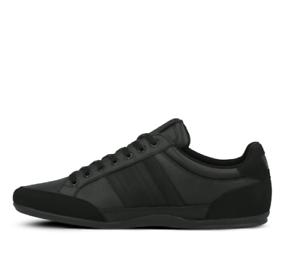 Lacoste-Chaymon-419-1-Mens-Casual-Black-Leather-Fashion-Flat-Shoes-38CMA0001-02H