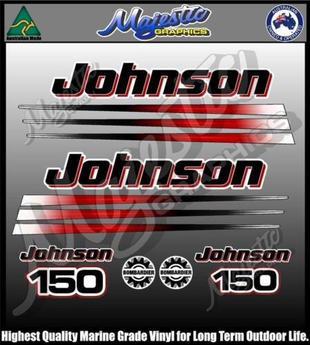 OUTBOARD DECALS JOHNSON 150hp DECAL SET BOMBADIER