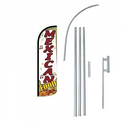 Mexican Food Extra Wide Premium Windless Swooper Feather Flag Bundle Ebay