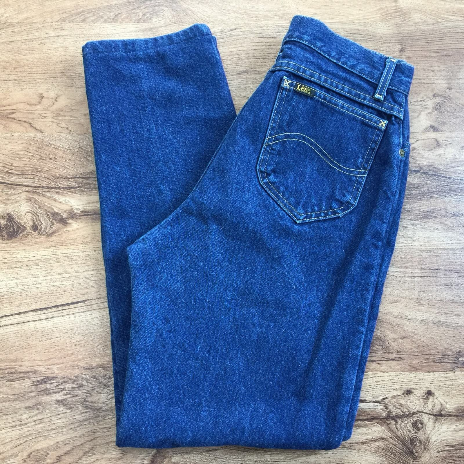 Vtg 90s Lee Riders Flannel Lined High Waist Jeans Made In USA Womens 10 Waist 27