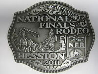 National Finals Rodeo Hesston 2011 Nfr Adult Cowboy Buckle Wrangler Agco