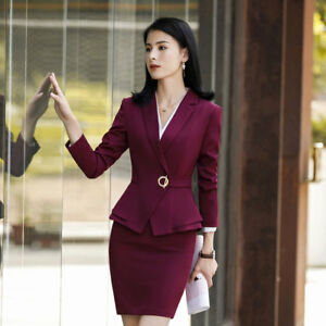 afe2429bbc9 New Style Women Business Skirt and Top Sets Office Ladies Work Wear ...