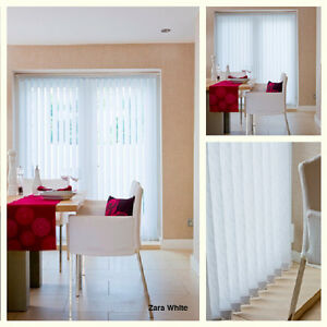 89mm 35 Made To Measure Vertical Blinds White Patterned Non
