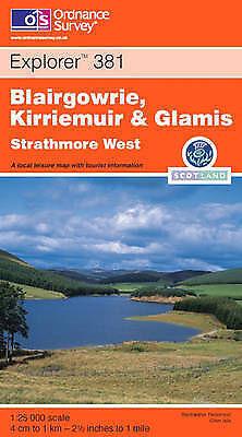 Blairgowrie, Kirriemuir and Glamis: Strathmore West (Explorer Maps), Ordnance Su