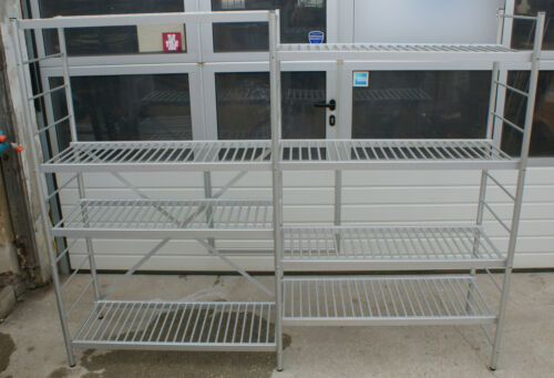 M FEBAL Kühlhausregal Alu-Regal Gastroregal 3 Ständer 8 Böden 180x230x51 //B