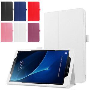 Folio-De-Cuero-Funda-con-Soporte-para-Samsung-Galaxy-Tab-A6-10-1-034-2016