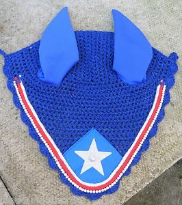 FLY VEIL BONNET EAR NET MASK  DIAMANTE CRYSTAL ROYAL BLUE RED amp SILVER  FULL - <span itemprop=availableAtOrFrom>AFFORDABLE HORSEWARE, United Kingdom</span> - We operate a 14 day return & exchange policy on all our items unless otherwise stated. Items MUST be returned, at the buyers expense, WITHIN 14 days by PRIOR arrangement with - AFFORDABLE HORSEWARE, United Kingdom