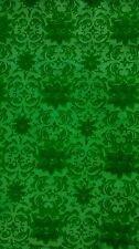 Retro Handwoven Thai Silk Fabric Vintage Green Floral 2.5 Yds
