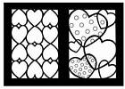 Hearts Stained Glass Coloring Book by Cathy Beylon (Paperback, 2005)