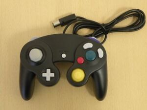 Image is loading TribeRetro-Nintendo-Gamecube-Controller-BLACK-Retro -Gaming-BRAND-