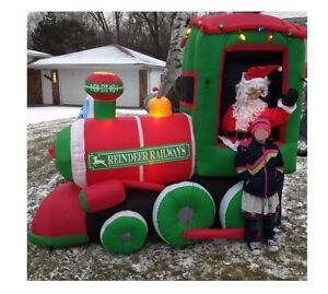 image is loading gemmy airblown inflatable 9ft long christmas santa in