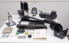 Lot of Polaroid MP 4+ camera parts - lens, bellows, hood, etc.