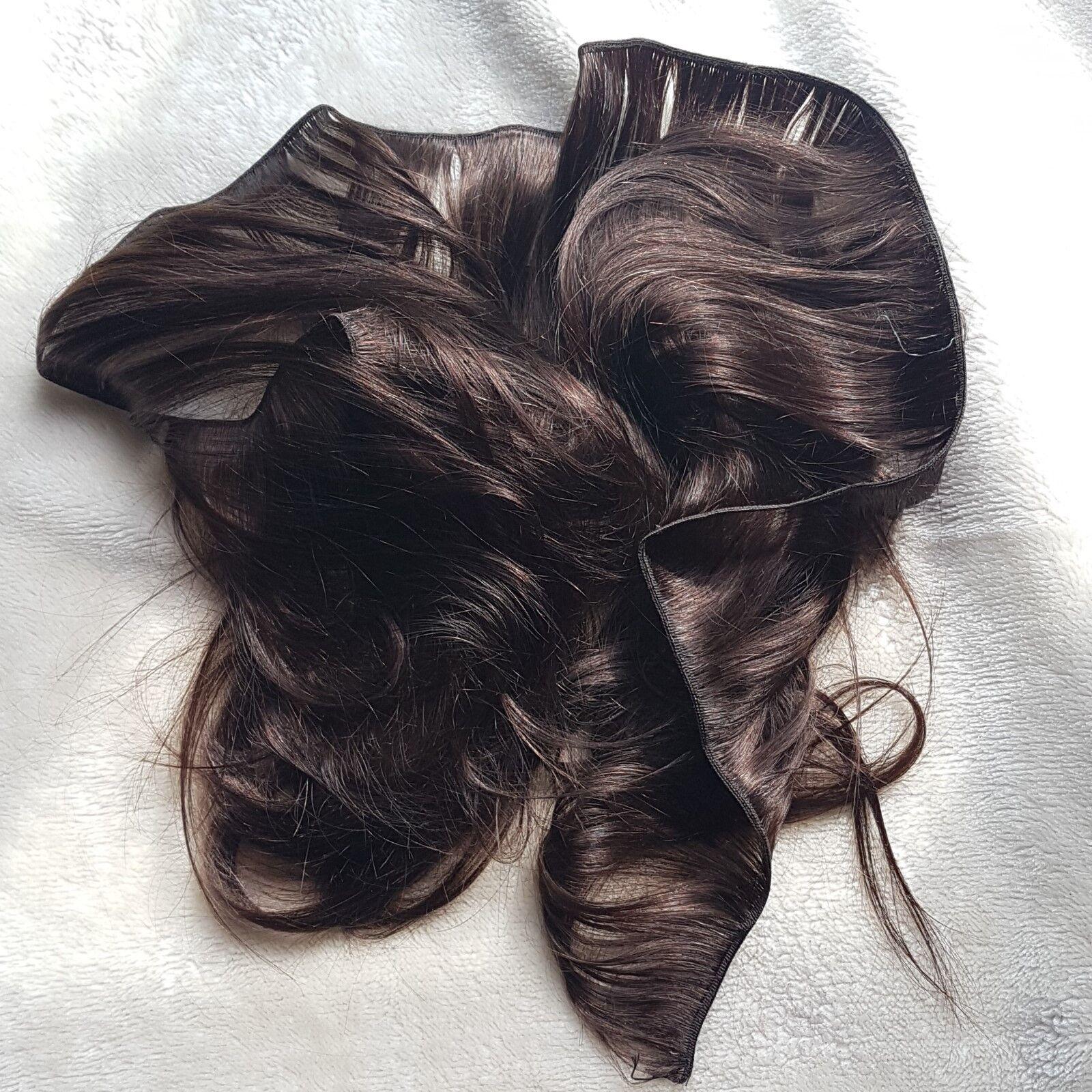 I capelli umani radicazione Reborn bambini Toddlers dritto 100g marróne non Mohair