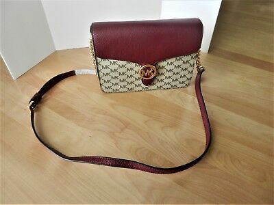 902faefbb2 Michael Kors Vanna Medium Shoulder Flap Crossbody Bag Nat mulberry ...