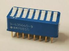 Lot Of 7 Dip Switch 3 435640 9 Spst Dip Switch 8 Position Through Hole