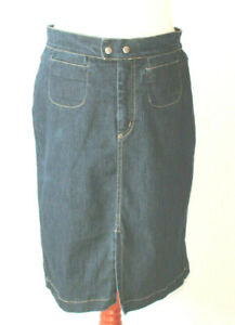 utterly stylish website for discount great prices Details about JQ Jeans Dark Wash Denim Skirt Pencil Straight Designer Made  In Italy Size 12