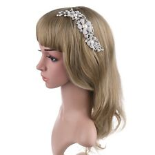 ELegant Bridal Wed Hair Comb Crystal Pearl Flower HairClip Bridesmaid Headpiece