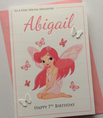 Personalised handmade cute butterfly fairy birthday card daughter personalised handmade cute butterfly fairy birthday card daughter sister niece bookmarktalkfo Image collections