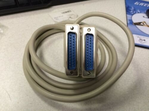 6/' Foot Ft  Parallel CABLE DB25 Male-Male