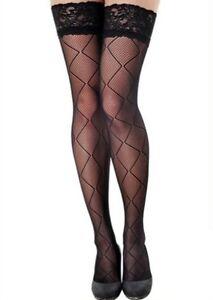 3767c7379 Image is loading Women-039-s-Fashionable-Desire-Black-Fishnet-Thigh-